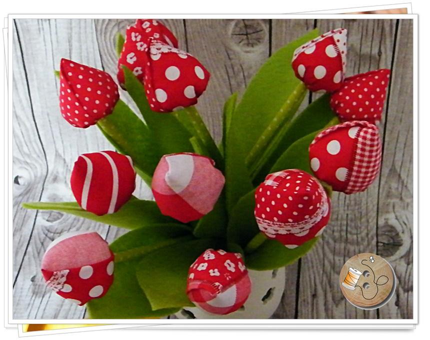 Nähen blumen Anleitung: Blumenstrauß